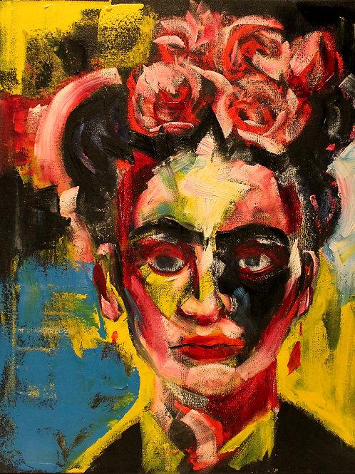 Frida Kahlo, 16 x 20 Framed