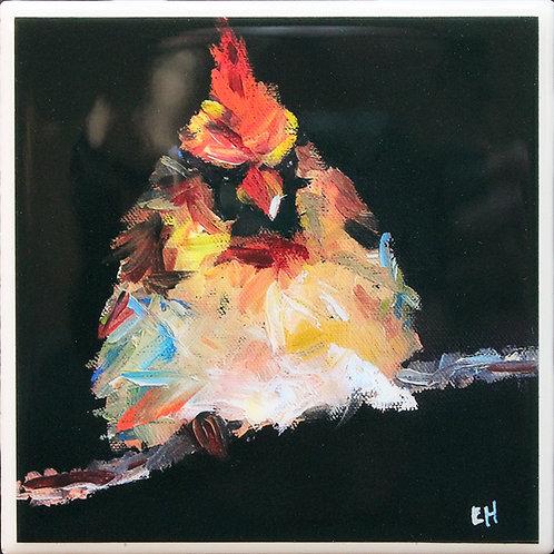 Angry Cardinal Coaster