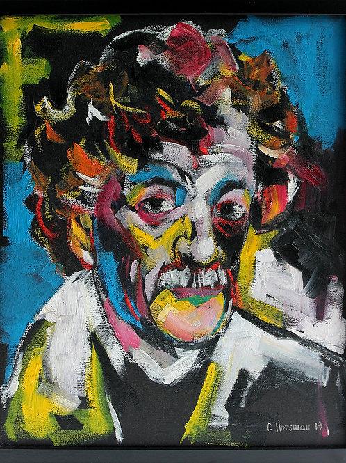 Kurt Vonnegut. 16 x 20 Framed