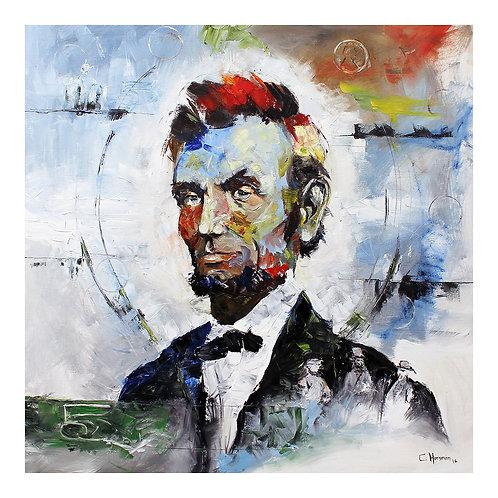 Abe Lincoln Print. 18 x 18