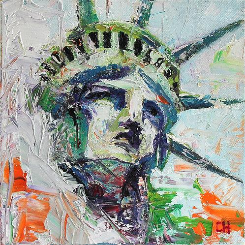 Lady Liberty. 8 x 8