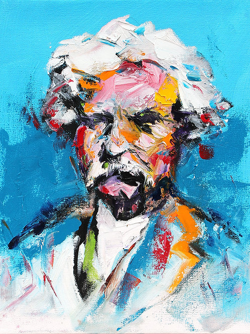 Mark Twain Study 11 x 14
