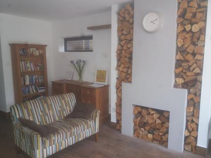 Open plan living room refurbishment