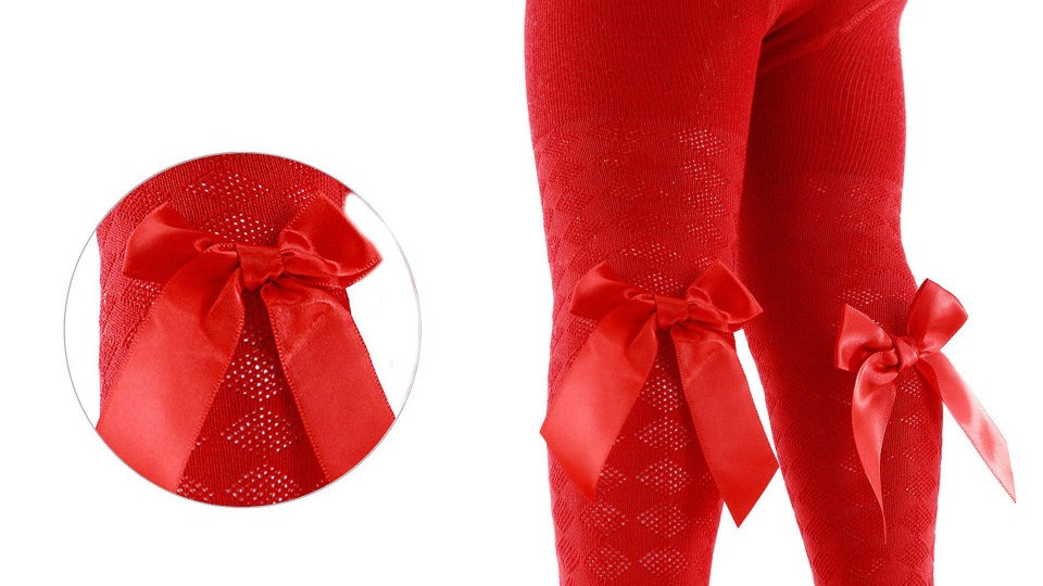 Red Bow Tights