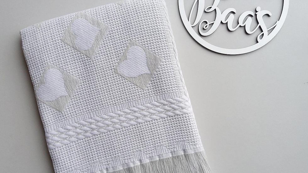 Beautiful Grey Heart shawl