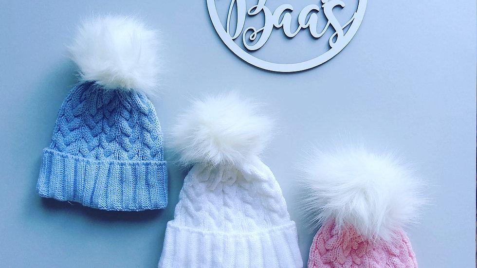 Fluffy Pom Pom hat