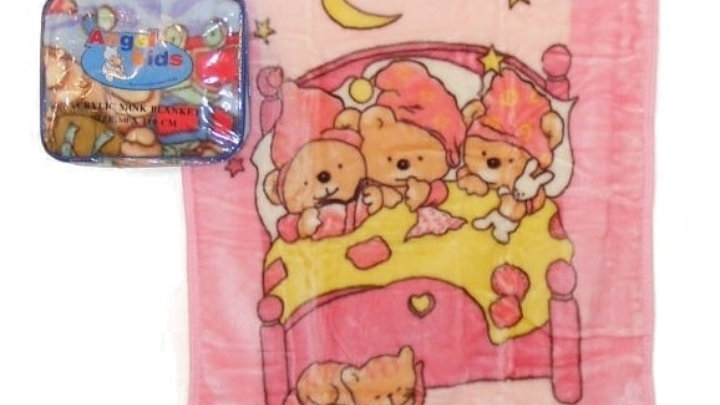 Teddy Bear Blanket pink