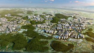 인천서구 검단지구 광역조감도 조감도제작 토지이용계획과 서울주변과의 연계 확인하기