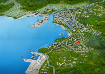 상가 오피스텔 조감도제작 광역조감도제작 포항장성 주거복합 지역도