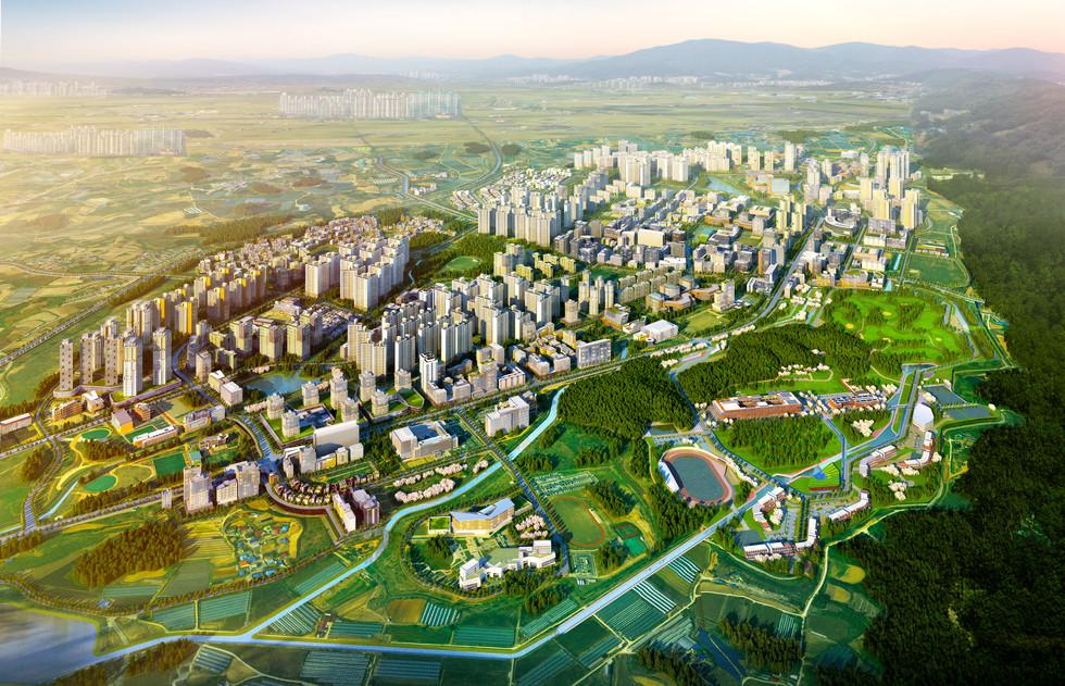 충북진천 혁신도시 광역조감도
