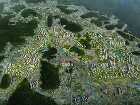 경기 양주신도시(옥정-회천)지구 신도시3기 광역조감도제작 과 공공주택 토지이용계획도 CG준공 전 미리보기