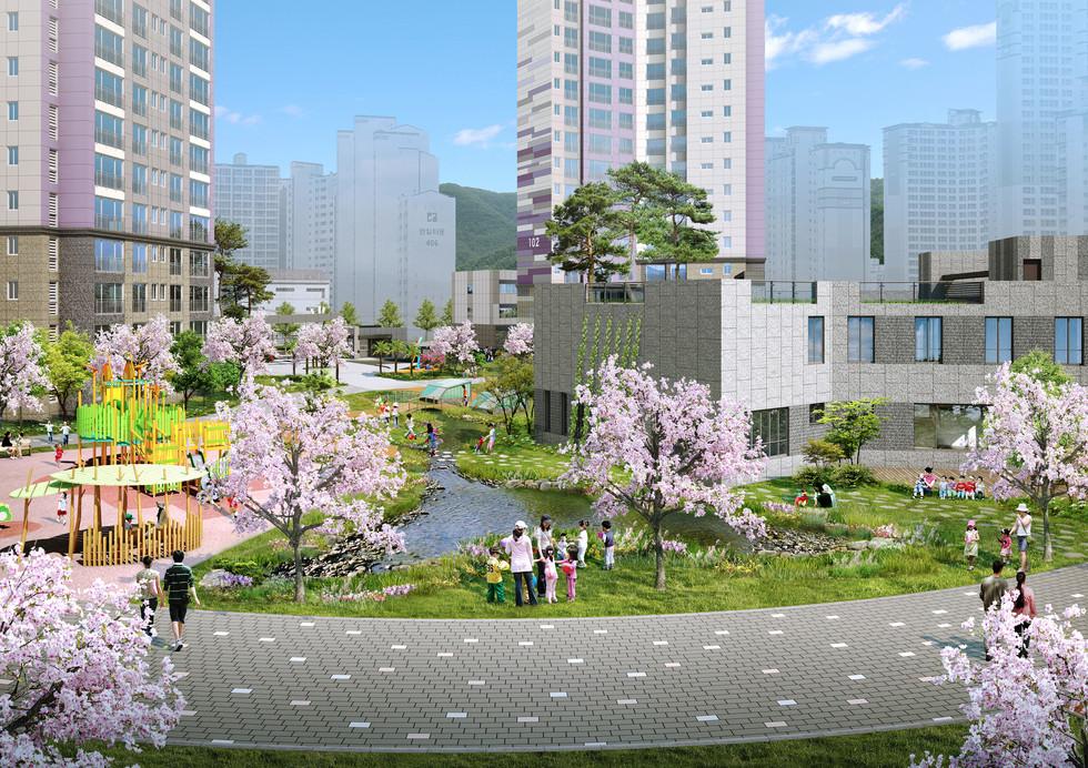 코오롱글로벌 창원율림 생태연못