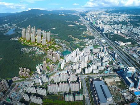 |용인시 동천동|경기도 용인시 동천동자이 아파트 분양 홍보용 CG 광역조감도 제작