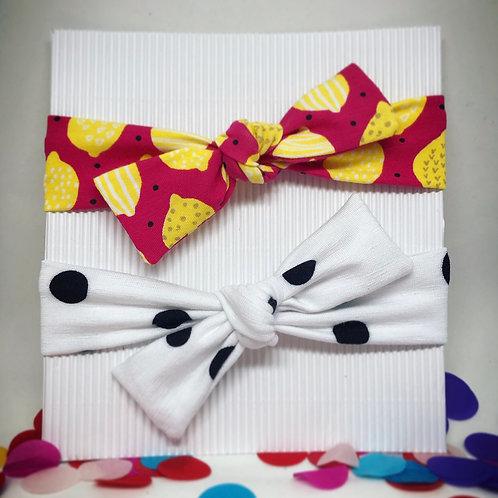 Baby Haar-/Stirnband *lemon-dots*