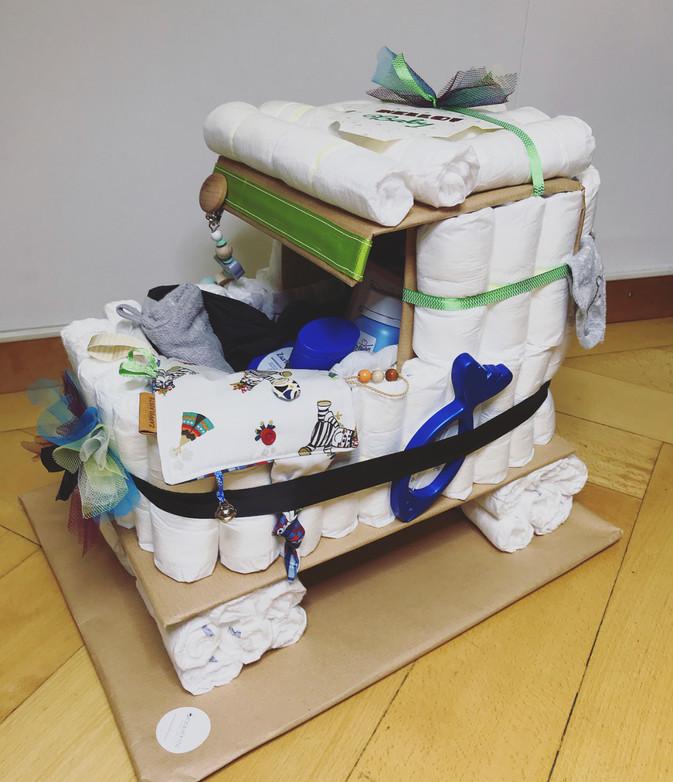 Windeltorte Kinderwagen