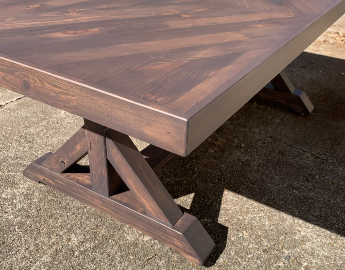 Stained Scissor Tail Table