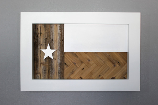 Texas Flag with Reclaimed Wood