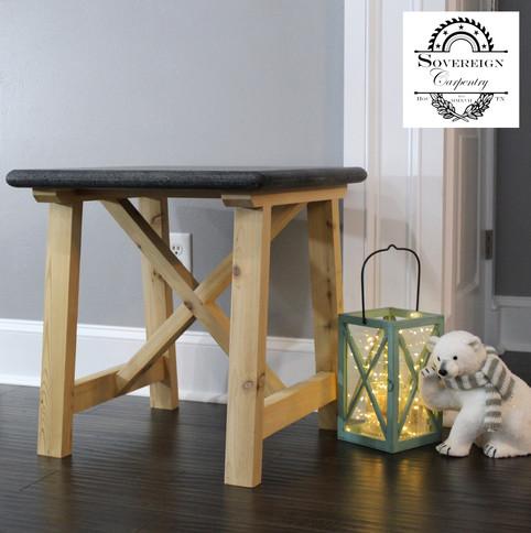Cedar and Granite Side Table