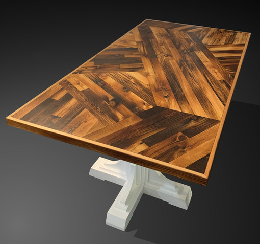 Scissor Tail table with French Country base