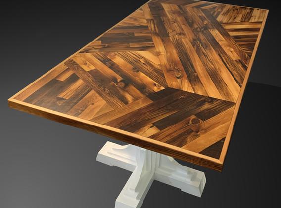 Scissor Tail Table White Base