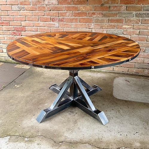 Scissor-Tail Round Dining Table