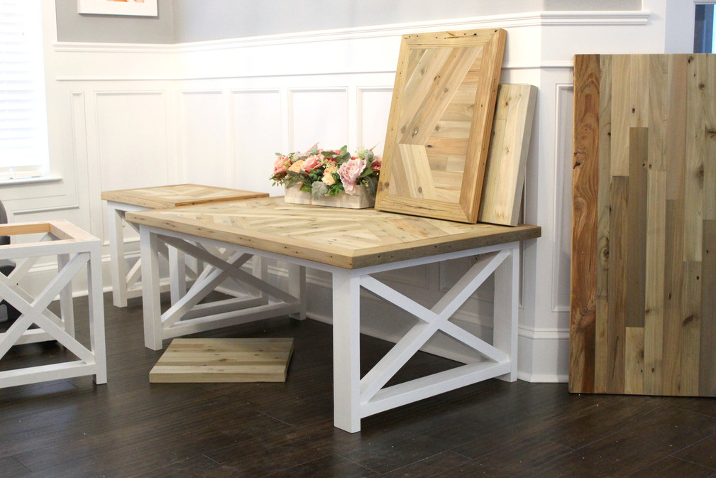 X Base Farmhouse Coffee Table