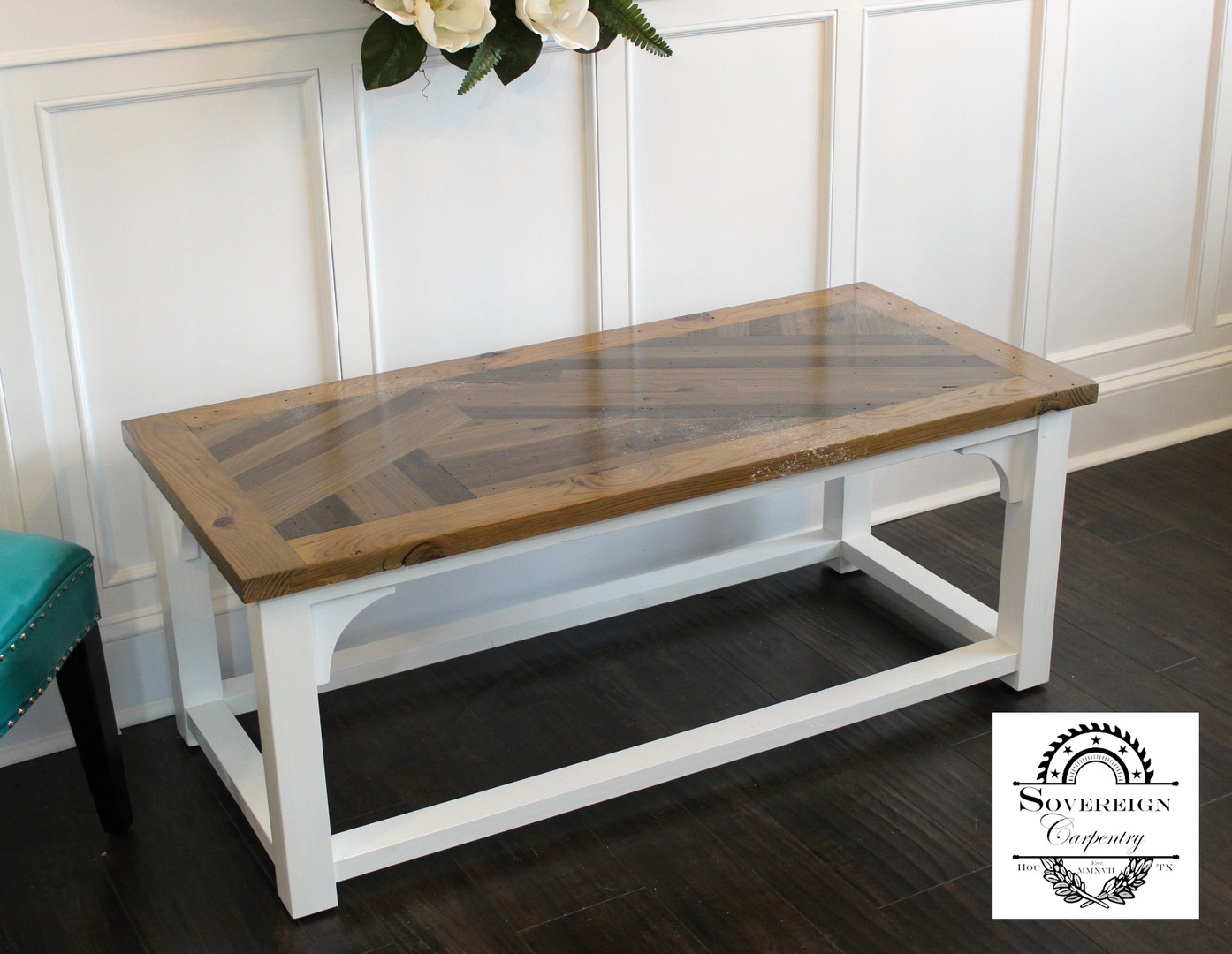 Farmhouse Scissor-Tail Coffee Table