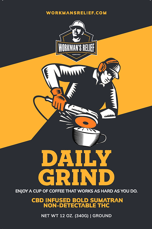 Workman's Relief Daily Grind Coffee, CBD