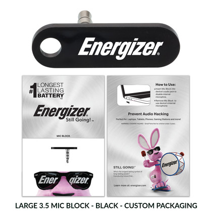 Energizer LargeMicBlock custom packaging