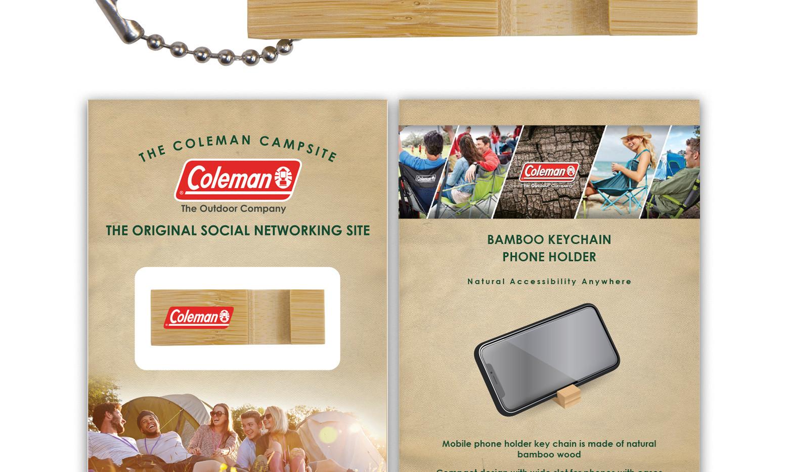 Coleman BambooPhoneStand Block Custom Pa