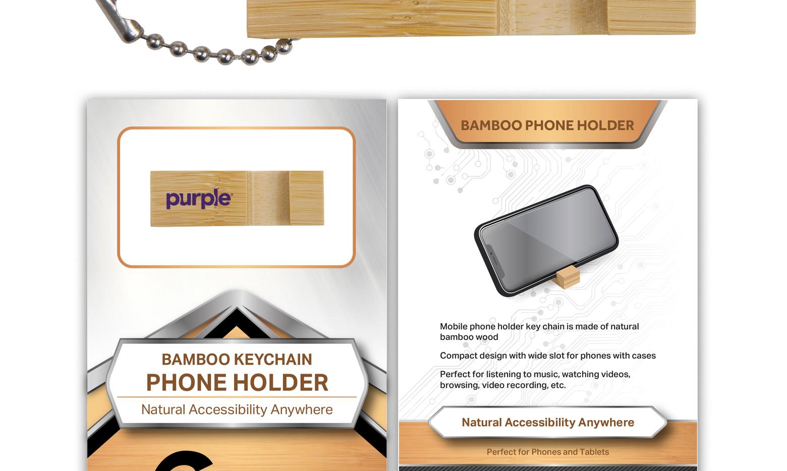 purple BambooPhoneStand Block Standard P