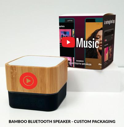 Youtube Music bamboo bluetooth speaker c