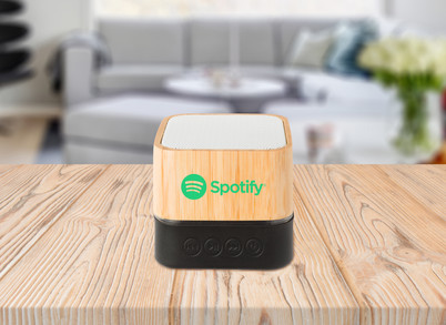 Spotify bamboo bluetooth speaker hero sh