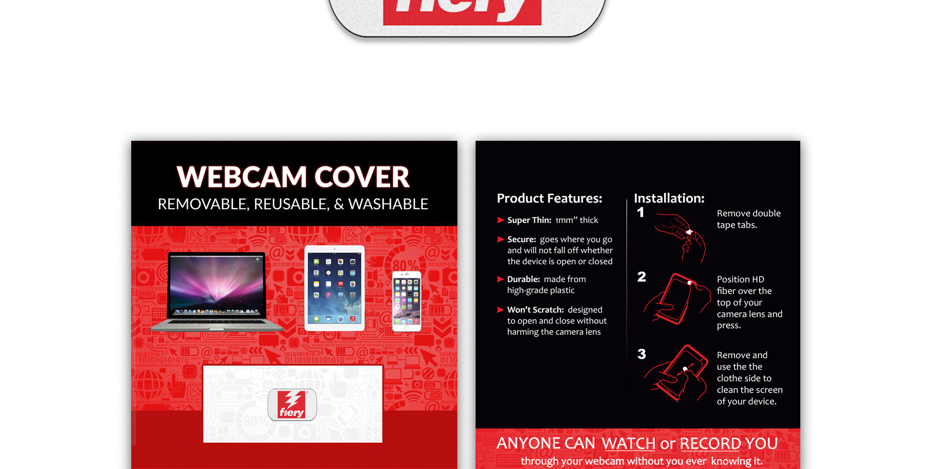 Fiery HD Fiber Phone card standard white