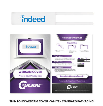 Thin Long with standard n card - white.j