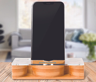 dual bambooacrylic phone amplifier Pando