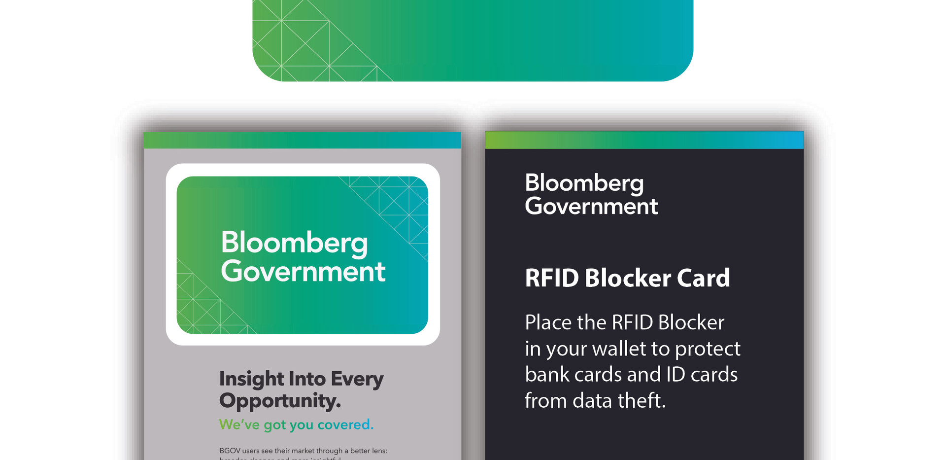 Bloomberg Government RFID Card Custom 1.