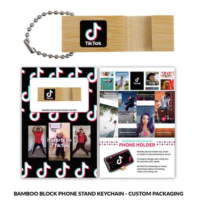 Tiktok BambooPhoneStand Block Custom Pac
