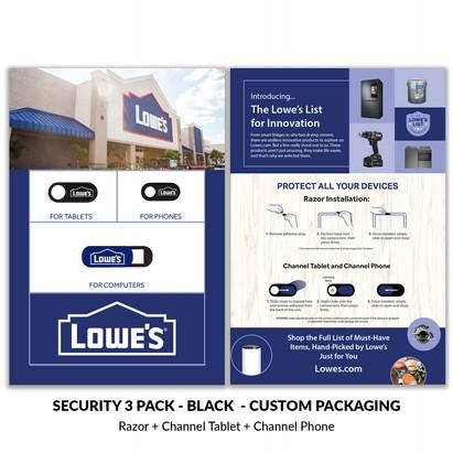 Lowes security 3 pack custom packaging.j
