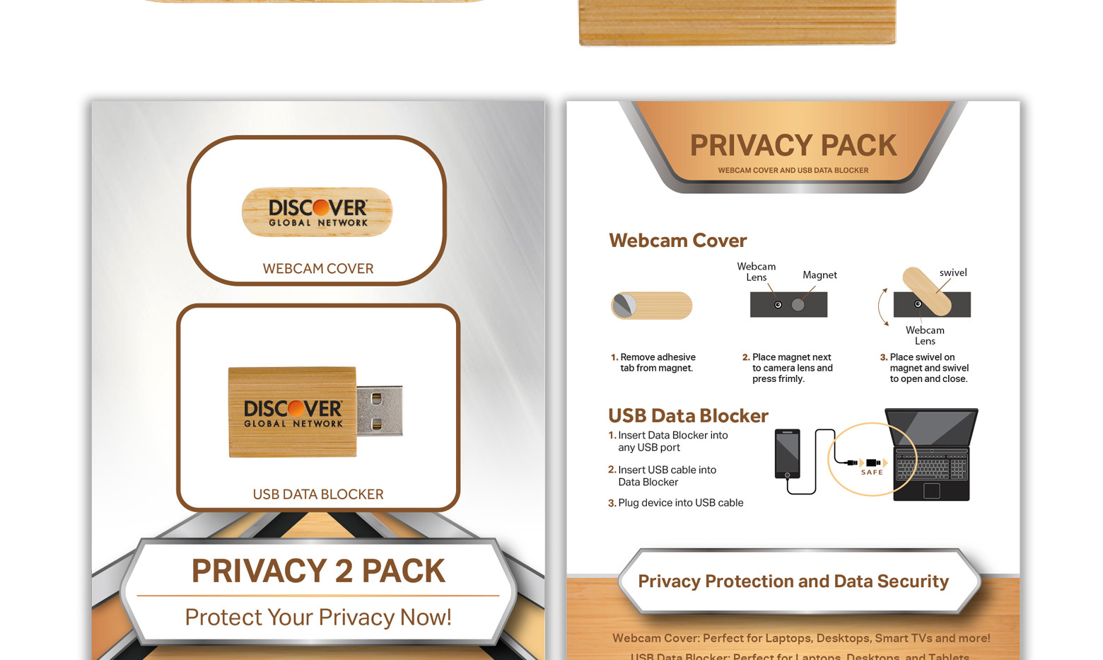Discover Privacy 2 Pack Bamboo STANDARD.