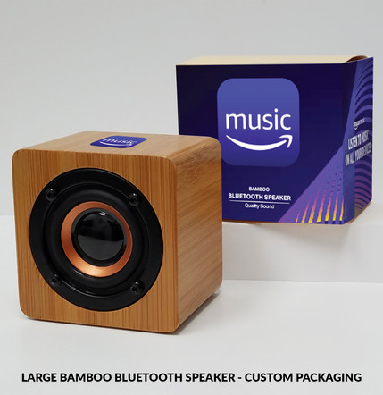 Amazon Music Large Bamboo Bluetooth Spea