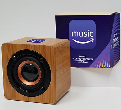 AmazonMusic large bamboo bluetooth speak