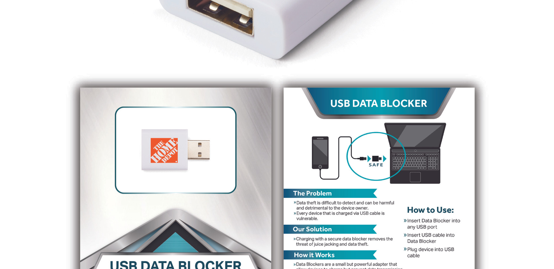 USB DataBlocker n standard white homedep