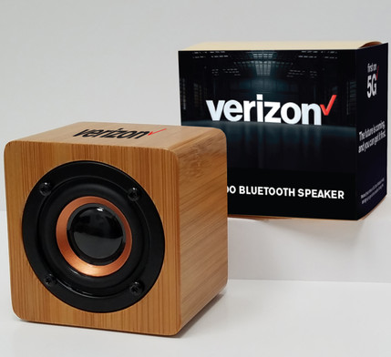 Verizon large bamboo bluetooth speaker c