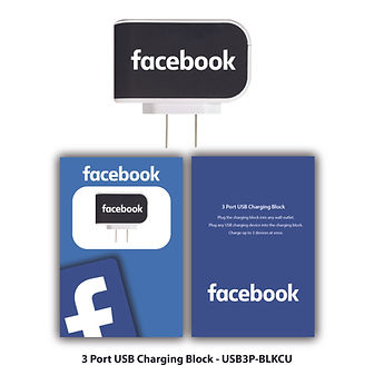 Facebook 3 Port Charging Block Custom.jp