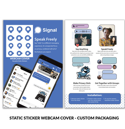 Signal Static Sticker Custom Packaging.j