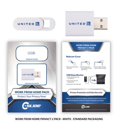 united airlines WFHK 2Pack Standard razo