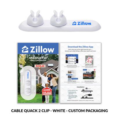 Zillow 2 clip cable quack custom packagi