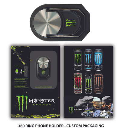 MonsterEnergy 360 Ring Phone Holder Cust