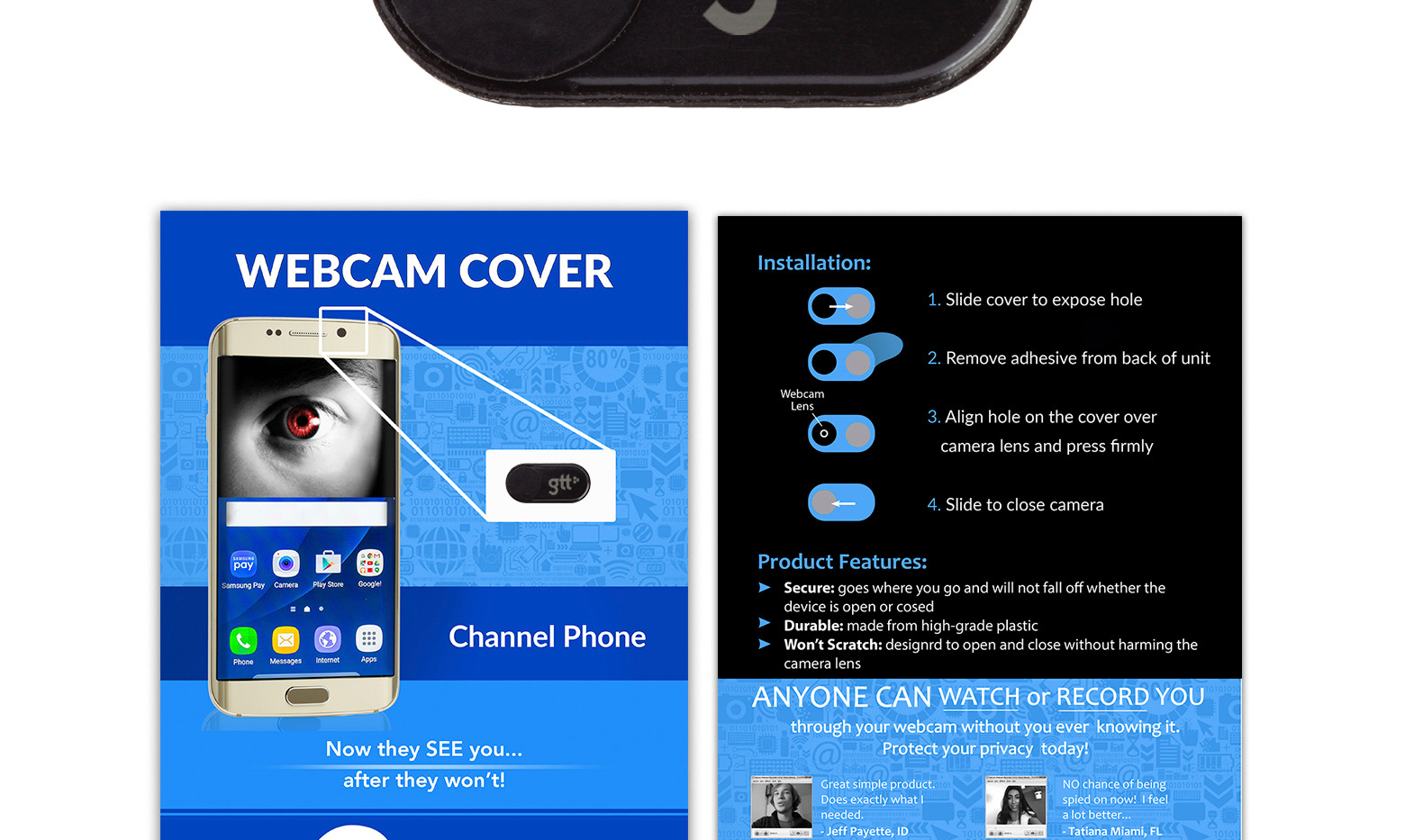Channel Phone black STANDARD card laser.